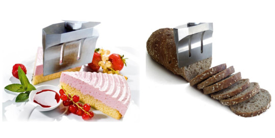 Ultrasonic cutting system for food